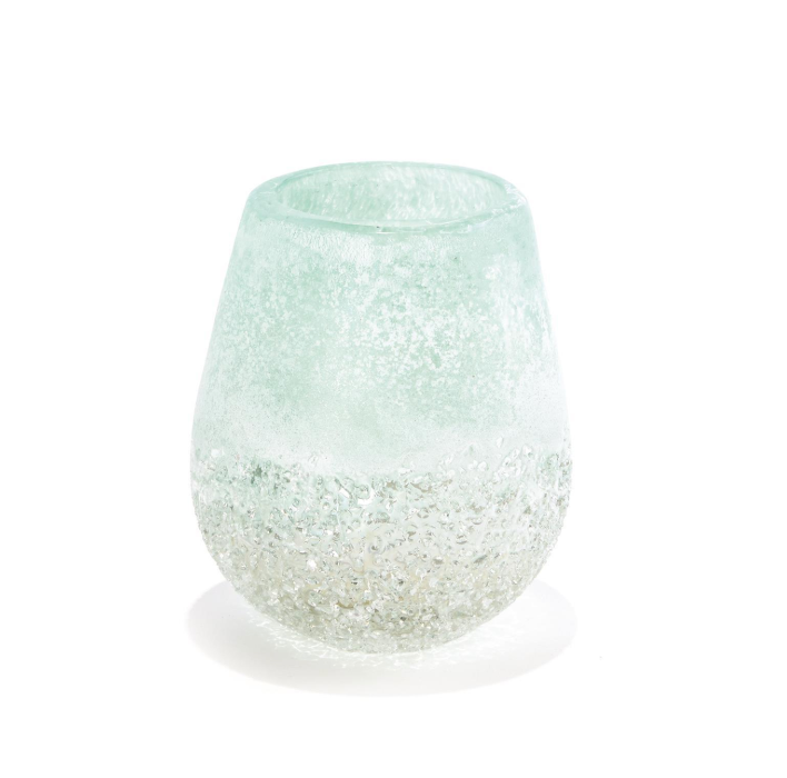 Waterscape Clear/Frosted Seafoam Votive Candleholder
