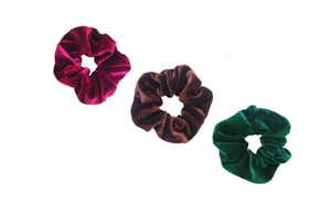 Velvet Scrunchies - No Bow - Assorted