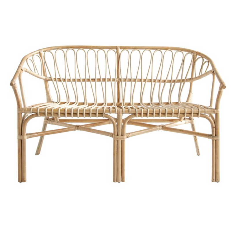 Hand-Woven Rattan Settee / Bench [In-Store Only]