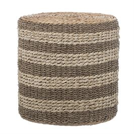 Ottoman / Natural Seagrass & Water Hyacinth Side Table [In-Store Only]