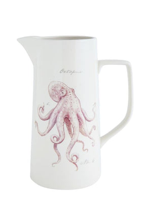 Octopus Stoneware Pitcher