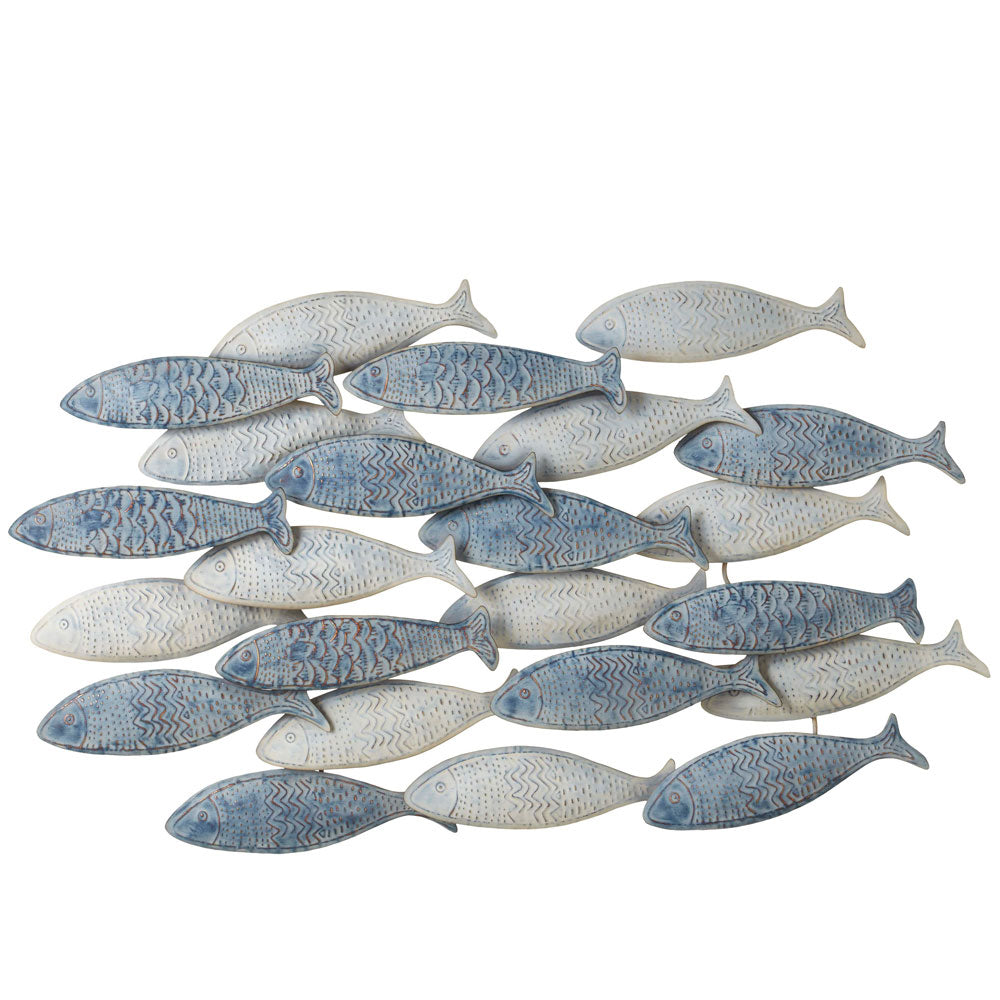The perfect wall decor, this Weathered Layered Embossed Fish is part of Blue Whale Trading Company's Coastal Collection.  Come check out our wide selection of coastal home furnishings.