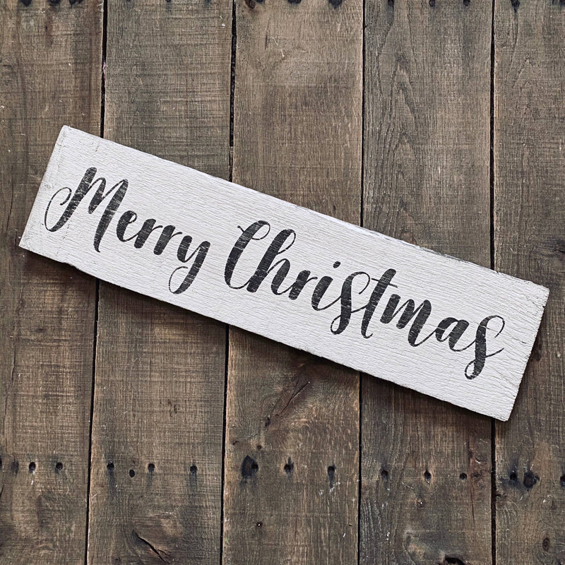 Anchored Soul Designs - Merry Christmas sign, Christmas decor, holiday sign