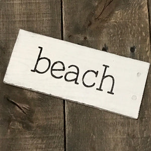 Anchored Soul Designs - beach sign