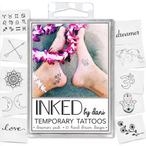 INKED by Dani - The Dreamers Pack - Temporary Tattoos