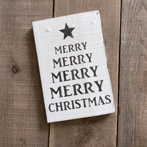 Anchored Soul Designs - Merry Merry Christmas tree sign, Christmas decor, holiday