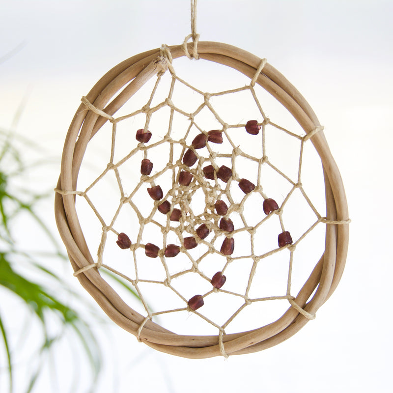 Salt Hippy - Handcrafted Outer Banks Drift Wood Dreamcatcher - Plum