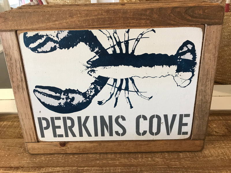 Rustic Marlin Perkins Cove Sign