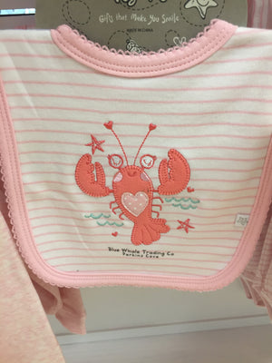 Baby Girl Bib - Lobster