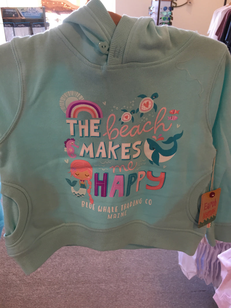 Girls Hoody - Happy Beach