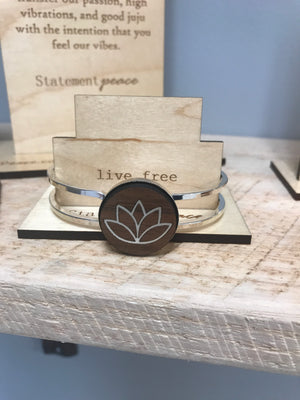 Statement Peace Lotus Bracelet