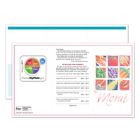 Market Medley Teal Blank Menus - Pack of 500