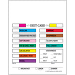 Multi-Colored Diet Cards - Pack of 500