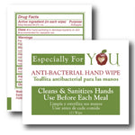 Especially for You Anti-Bacterial Ethyl Alcohol, Microbial-Control Wipes - Case of 2000