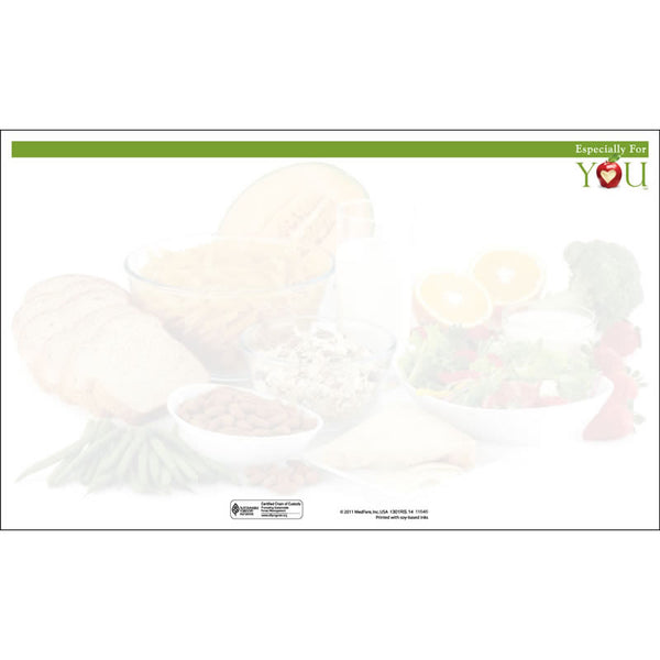 "Especially For You Room Service 8-1/2"" x 14"" Blank Menu Jackets - Pack of 250"