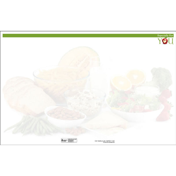 "Especially For You Room Service Blank Menu Jackets - 11"" x 17"" - Pack of 250"