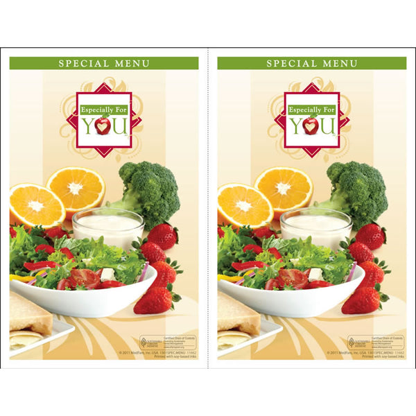 Especially for You Special (Alternate) Menu Jackets - Pack of 250