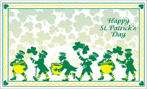 St. Patrick's Day Holiday Menu Jackets - Pack of 100