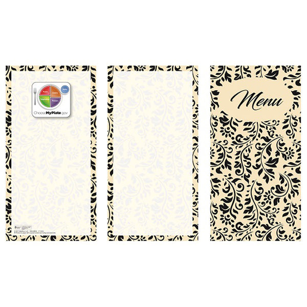 "Flourish 8-1/2"" x 14"" Blank Menu Jackets - Pack of 500"