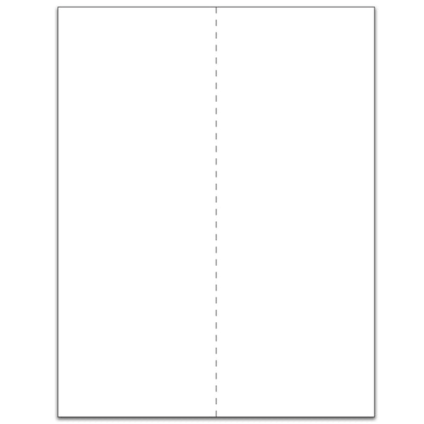 White 2-Up Tray Slips - Case of 3000