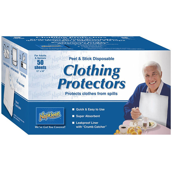 Adult Disposable White Bibs - Case of 600