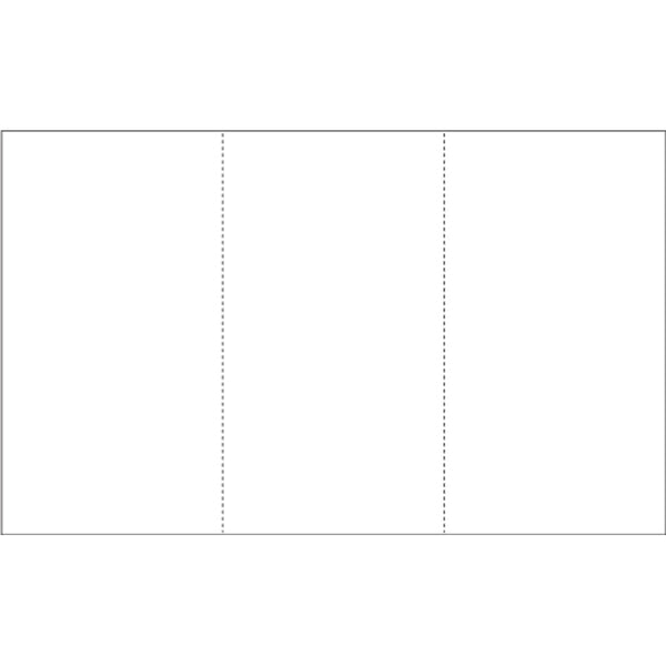 "8.5"" X 14"" Blank Perforated Paper - Pack of 500"