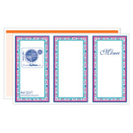 Orange Desert Rise Menus - Pack of 500