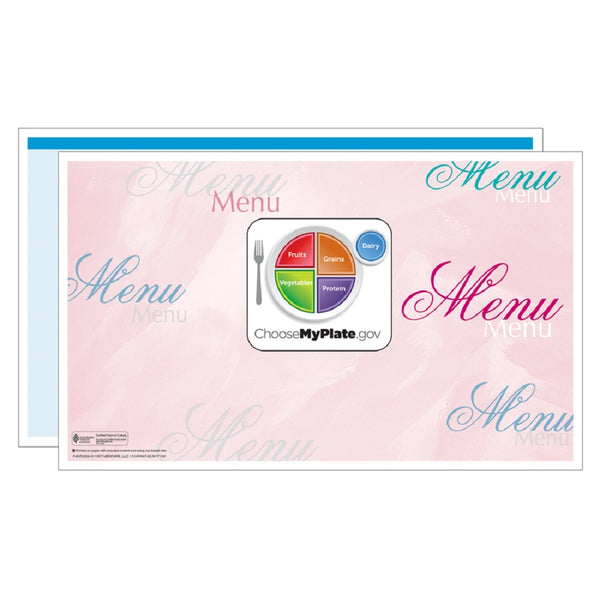 Blue Fantasia Menus - Pack of 500