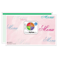 Green Fantasia Menus - Pack of 500