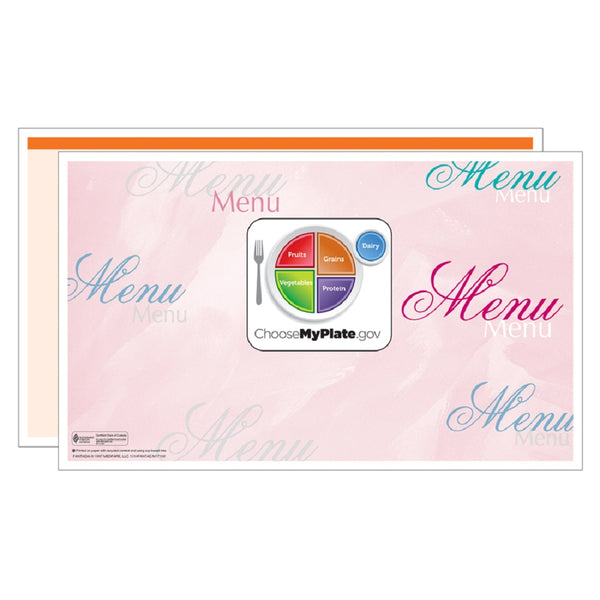 Orange Fantasia Menus - Pack of 500