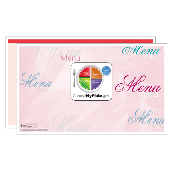 Red Fantasia Menus - Pack of 500