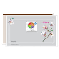 Brown Magnolia Menus - Pack of 500