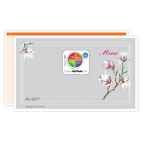 Orange Magnolia Menus - Pack of 500