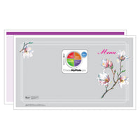 Purple Magnolia Menus - Pack of 500