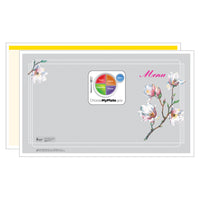 Yellow Magnolia Menus - Pack of 500