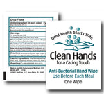 Clean Hands 64% Anti-Bacterial Patient Hand Wipes - Case of 2000