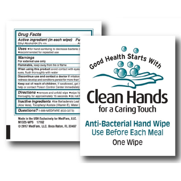 *PREORDER TO GET BY 6/15/20* Clean Hands 64% Anti-Bacterial Patient Hand Wipes - Case of 2000