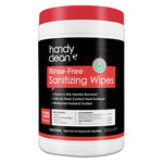 Handy Clean Rinse-Free Sanitizing Wipes Canisters - Case of 720 Wipes