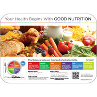 "HealthyFare 14"" x 19"" Interactive Traycovers - Case of 1000"