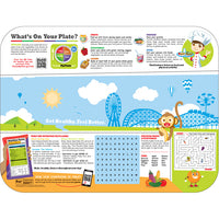 "Pediatric Carnival/Nutrition 12-3/4"" X 16-3/4"" Interactive Traycovers - Case of 1000"
