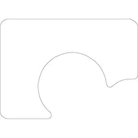 "Plain White 12-1/4"" x 16-3/4"" With Cut-Out for Plate Traycovers - Case of 2000"