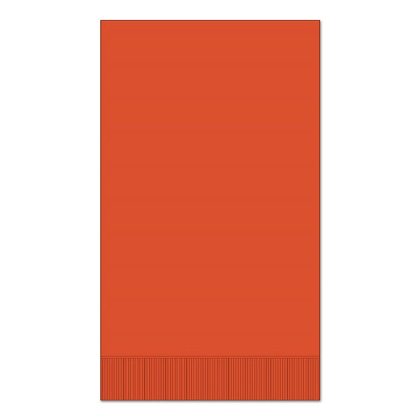 "Orange 15"" x 17"" Dinner Napkins - Pack of 100"