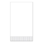 "White 15"" x 17"" Dinner Napkins - Case of 3000"