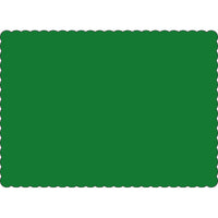 "Dark Green 10"" x 14"" Placemats - Case of 1000"