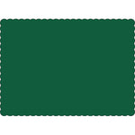 "Hunter Green 10"" x 14"" Placemats - Case of 1000"