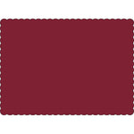 "Maroon 10"" x 14"" Placemats - Case of 1000"