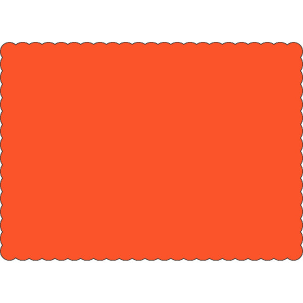 "Orange 10"" x 14"" Placemats - Case of 1000"