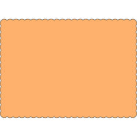 "Peach 10"" x 14"" Placemats - Case of 1000"