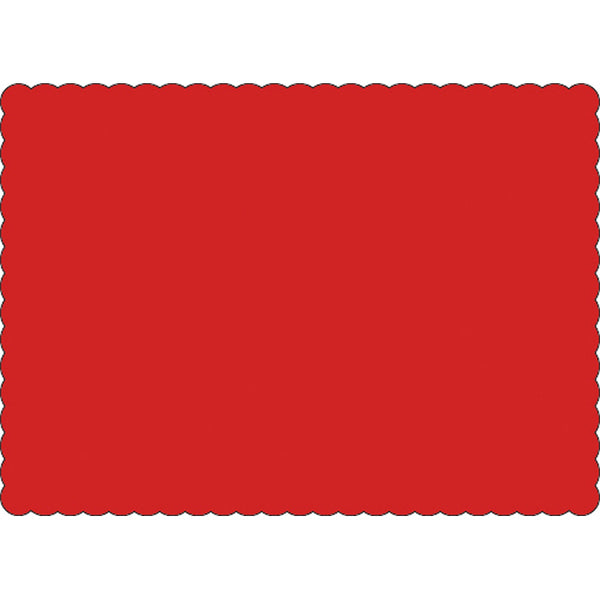 "Red 10"" x 14"" Placemats - Case of 1000"