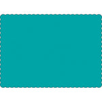 "Teal 10"" x 14"" Placemats - Case of 1000"